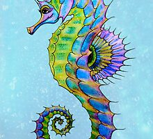 Watercolour Seahorse by STUDIO 88 TARANAKI NZ