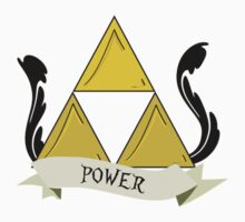 Triforce of Power Tattoo by geekphoria