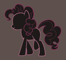 Pinkie Pie lines on black T-Shirt