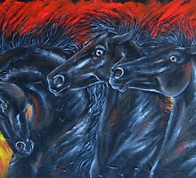 Fire Horses  by louisegreen