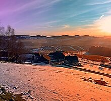 Colorful winter wonderland sundown | landscape photography by Patrick Jobst