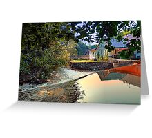 Nature, a river and colorful reflections | waterscape photography Greeting Card