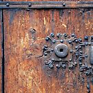 Old door with 3 keyholes by Arie Koene