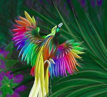 Rainbow Bird of Paradise by Cate Adams