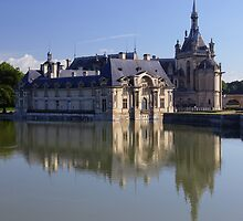 Chantilly, the castle in the morning, Oise, France. by remos