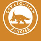 Ceratopsian Fancier Print by David Orr