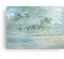 The meeting of sea, sky and beach Canvas Print