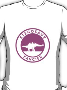 Stegosaur Fancier (Violet on White) T-Shirt