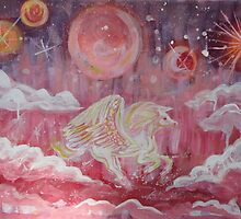 Pink Pegasus Galaxy by JulianaLachance