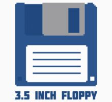 3.5 Inch Floppy Disk T Shirt by Fangpunk