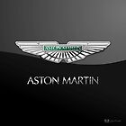 Aston Martin 3D Badge-Logo on Black  by Captain7