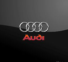 Audi 3D Badge-Logo on Black by Captain7