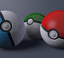 Pokeballs by jclair