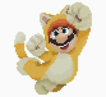 Super Mario 3D World - Cat Mario Pixel Art by 13-Bit