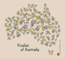 Cute Koalas Australia Map by JumpingKangaroo
