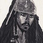 Capt. Jack Sparrow by Claire McDonald