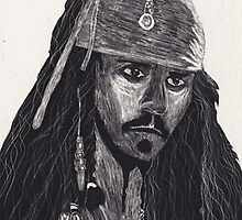 Capt. Jack Sparrow by Claire McDonald