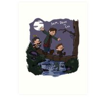 Sam, Dean, and Cas Art Print