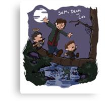 Sam, Dean, and Cas Canvas Print