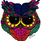 Jeweled Owl by D.U.R.A .