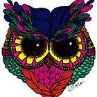 Jeweled Owl by D.U.R.A .