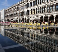 Venice, Italy - St Mark's Square Symmetry by Georgia Mizuleva
