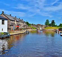 Brecon Canal Basin by Paula J James