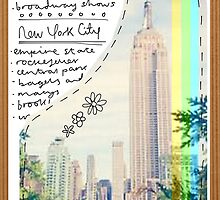 NYC Postcard by bluboca