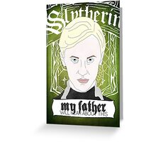 HARRY POTTER's Draco Malfoy Greeting Card