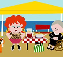 Antonia & Omaíta On The Beach by Sonia Pascual