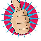 Vintage Pop Art Thumbs Up Sign. by jorgenmac
