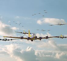 B17 - Mighty 8th En-route by warbirds