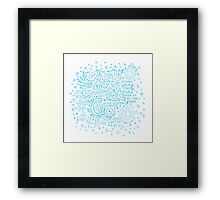 Let It Go- Blue Framed Print