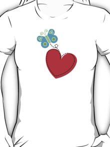 Valentine Butterfly [Light Background] T-Shirt