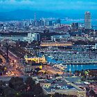 Barcelona at dusk by AnnaGo