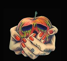 Poison Apple Tattooed Hands Black by chelsiemarie