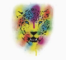 POP Tiger - Colorful Paint Splatters and Drips - Stained Canvas Art Prints Kids Clothes