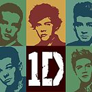 One Direction Toned Pop Art Digital Portrait by David Alexander Elder