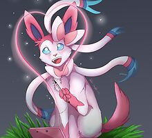 Sylveon Love  by aunumwolf42