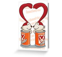Canned Bunny Love Greeting Card