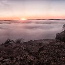 Sunrise and fog by Chris Brunton