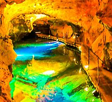 Psychedelic River Styx - Jenolan Caves  by Andrew Dodds