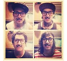 Pierce The Veil with Mustaches! Photographic Print