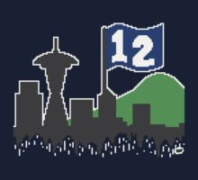 12th Man Skyline by Cloud1UP