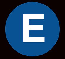 E Train Placard by axemangraphics