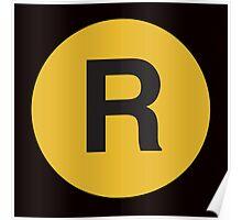 R Train Placard Poster