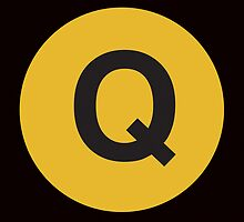 Q Train Placard by axemangraphics