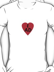 I Love Andorra - Country Code AD T-Shirt & Sticker T-Shirt