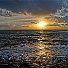 Sunset over Kimmeridge Bay by ArtemBonda