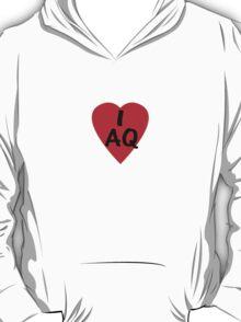 I Love Antartica - Country Code AQ T-Shirt & Sticker T-Shirt